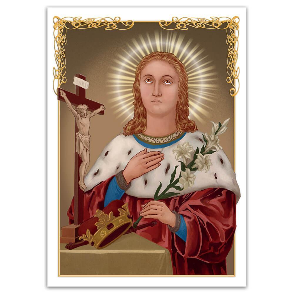 Saint Casimir : Gift Sticker Catholic Polish Three Handed Lily Religious Christian Faith