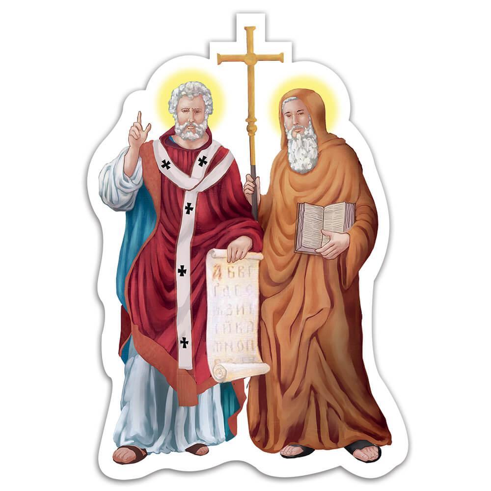 Saint Cyril And Methodius : Gift Sticker Apostles Catholic Christian Religious Slavs