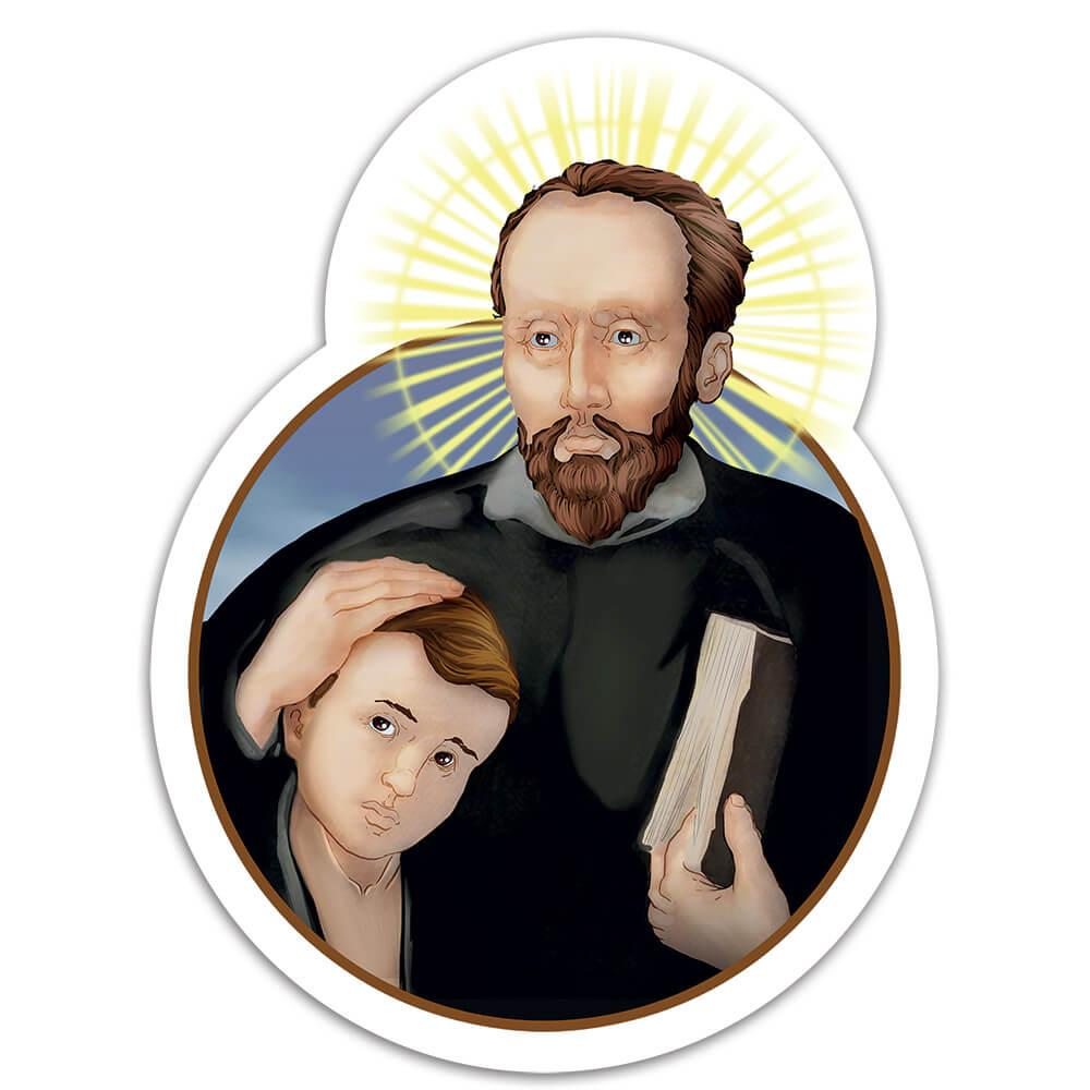 Saint Jerome Emiliani : Gift Sticker Gerolamo Catholic Church Orphans Children Religious