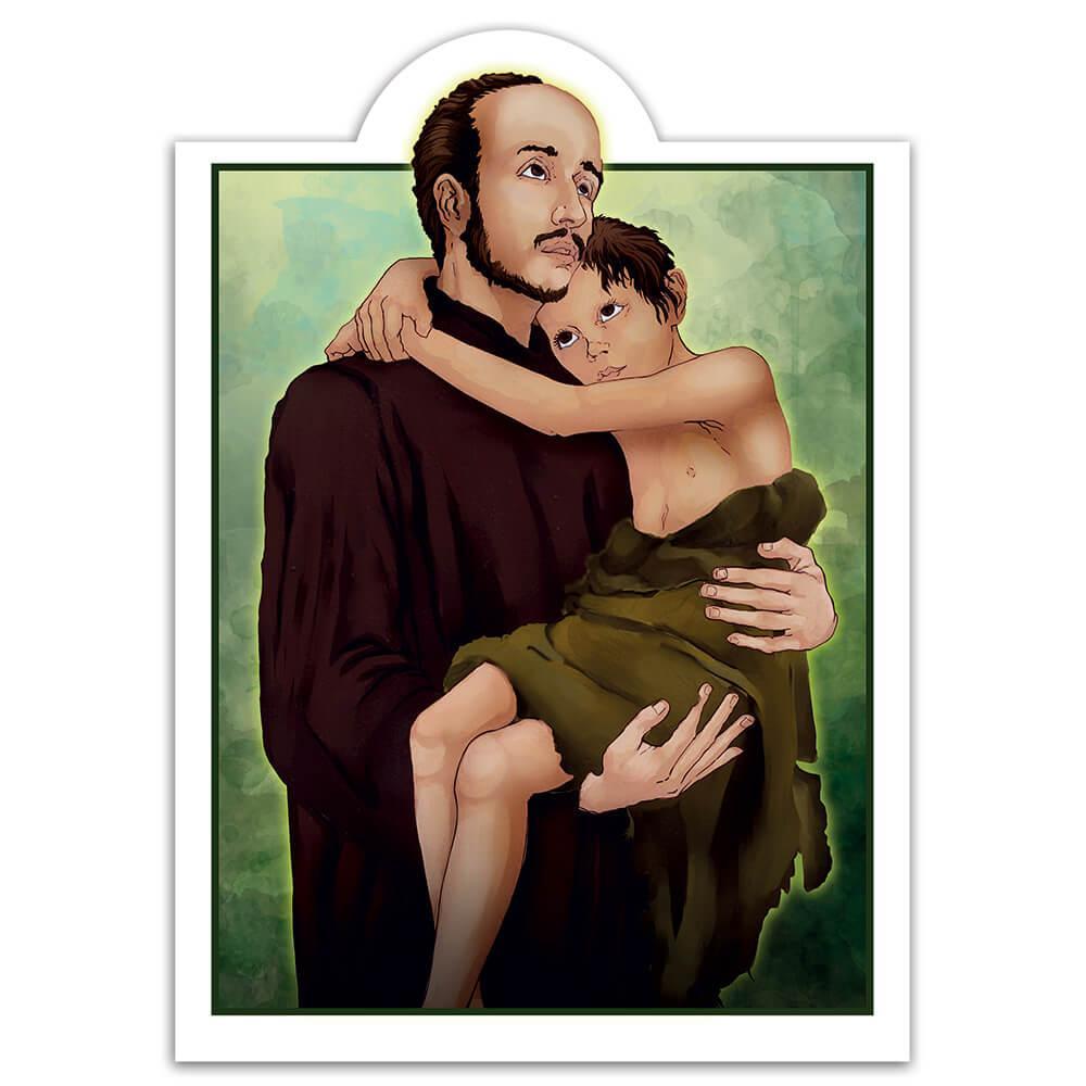Saint John Of God : Gift Sticker Catholic Church Kid Child Religious Christian Protector