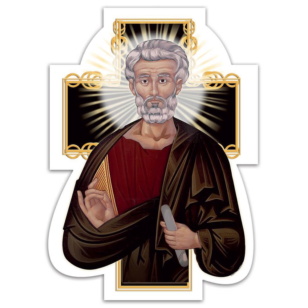 Saint Matthias : Gift Sticker Catholic Church Christian Axe Religious Apostle Faith