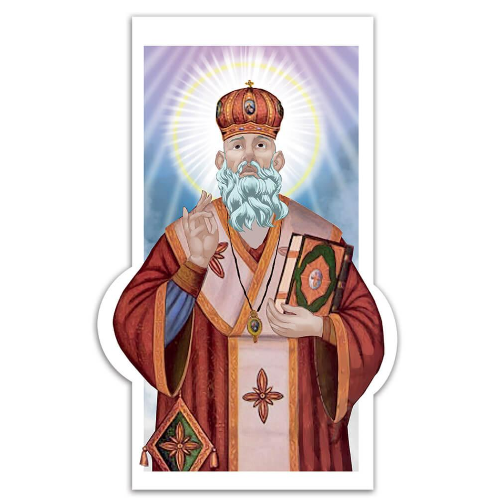 Saint Polycarp Of Smyrna : Gift Sticker Catholic Faith Christian Religion Book Wall Poster