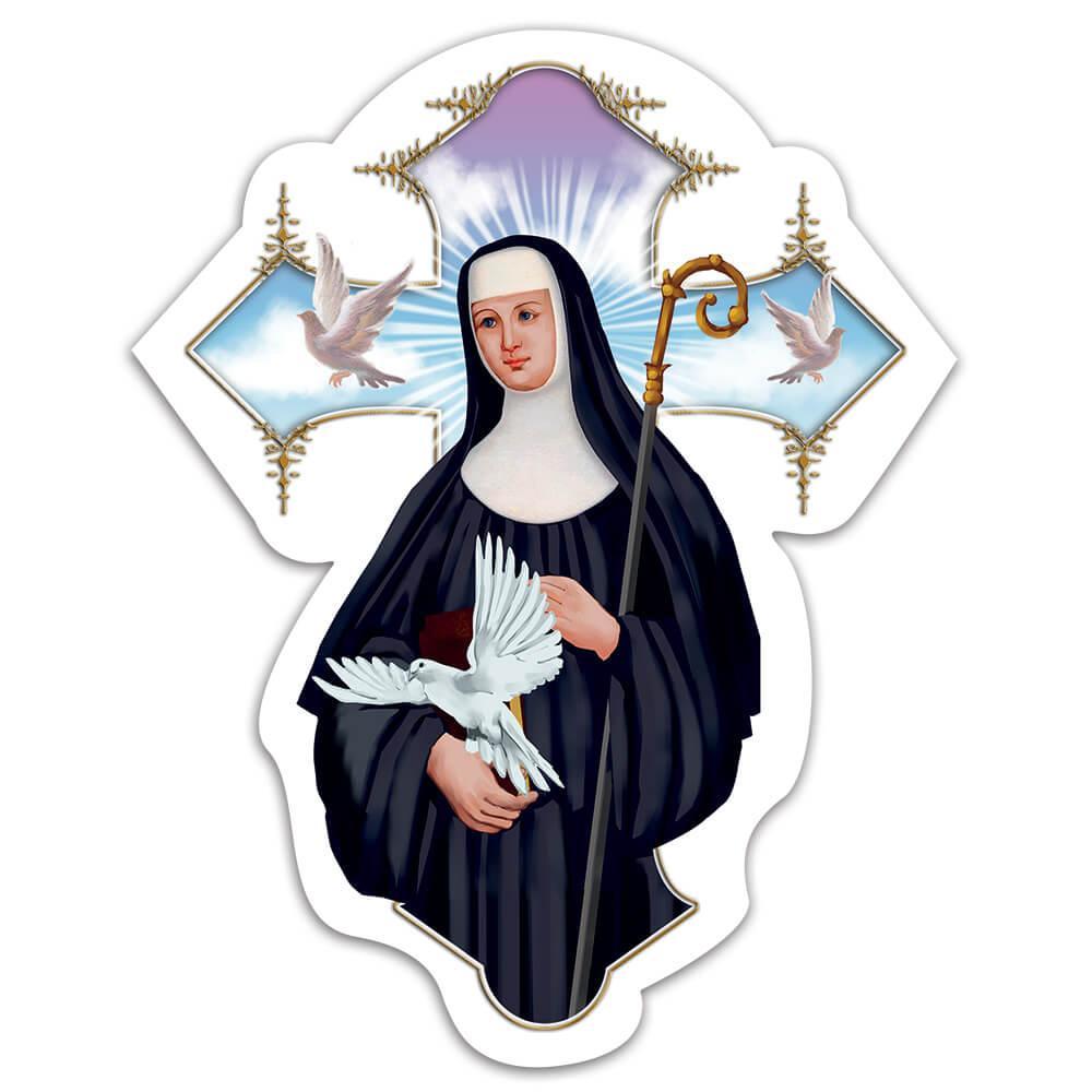 Saint Scholastica : Gift Sticker Catholic Church Orthodox Anglican Christian Religious