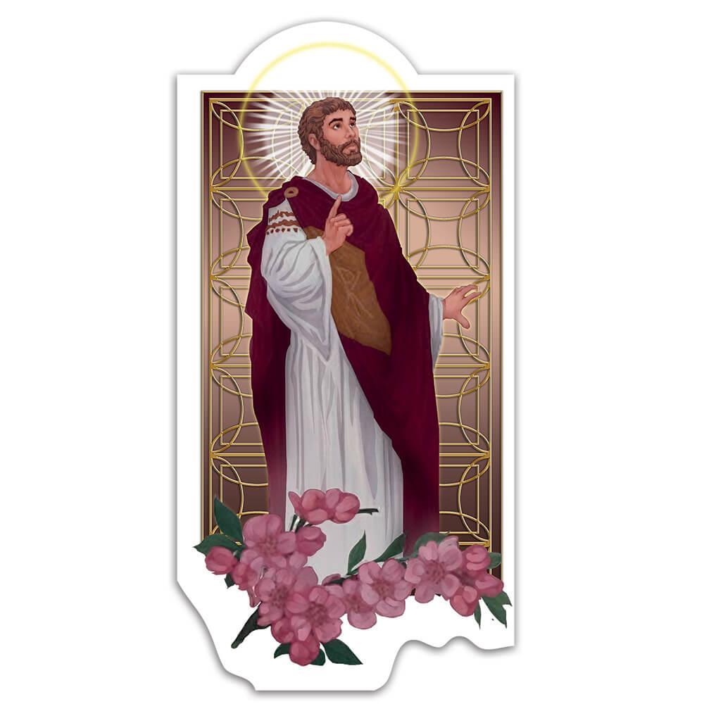 Saint Valentine : Gift Sticker Catholic Church Love Christian Flowers Wall Decor Religion