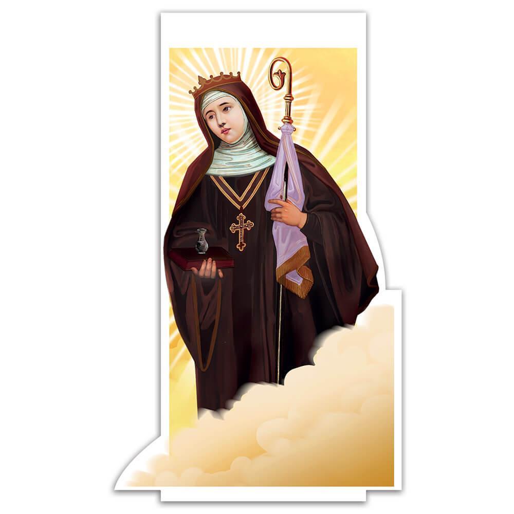 Saint Walburga : Gift Sticker Walpurga Catholic Church Faith Christian Holy Religious