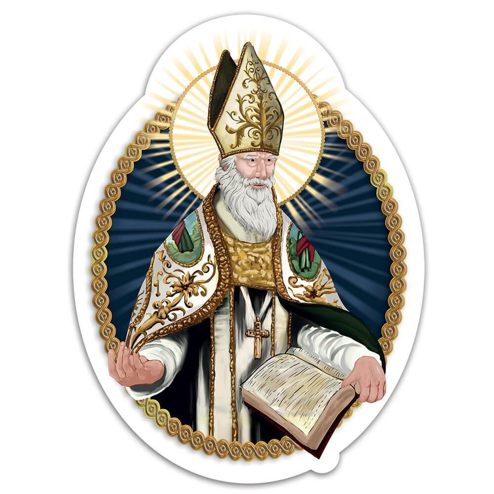 Saint Albert The Great : Gift Sticker Albertus Magnus Catholic German Book Christian