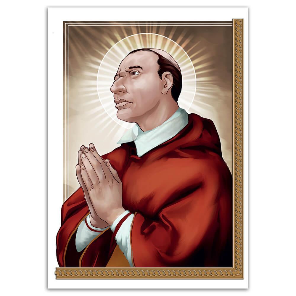 Saint Charles Borromeo : Gift Sticker Catholic Church Bishop Christian Religion Poster