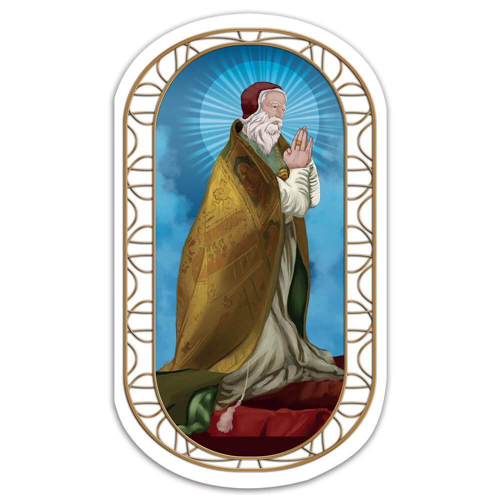 Saint Clement I : Gift Sticker Catholic Church Rome Pope Christian Religious Prayer