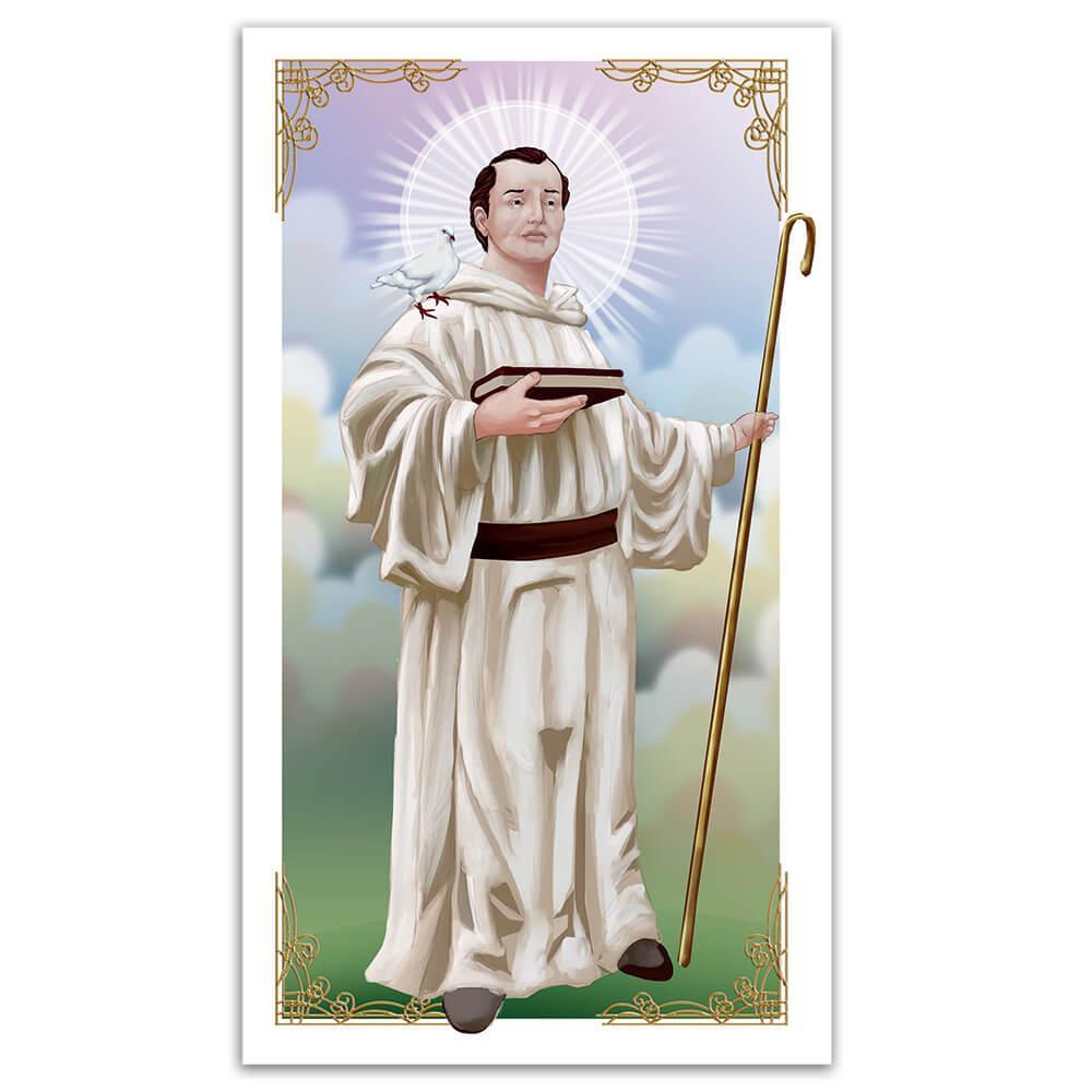 Saint Columban : Gift Sticker Columbanus Catholic Church Motorcyclist Patron Christian