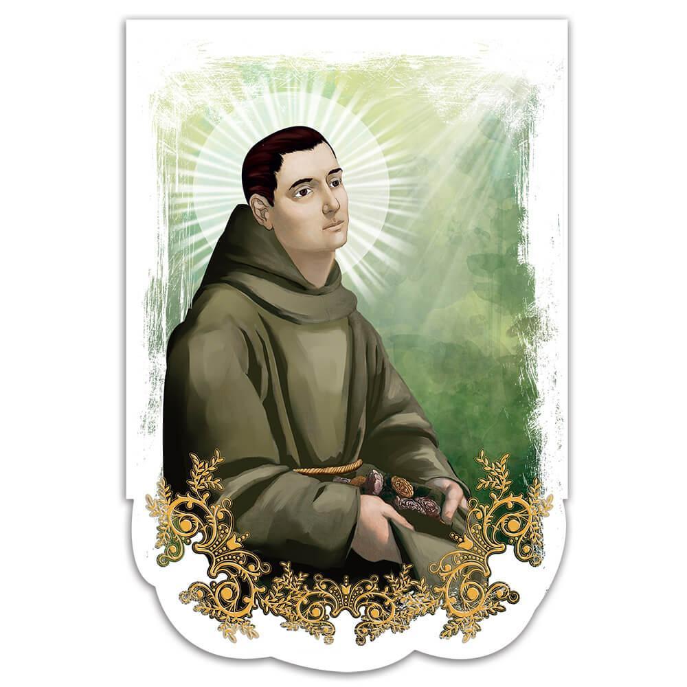Saint Didacus Of Alcala : Gift Sticker Diego De Catholic Church Monk Cross
