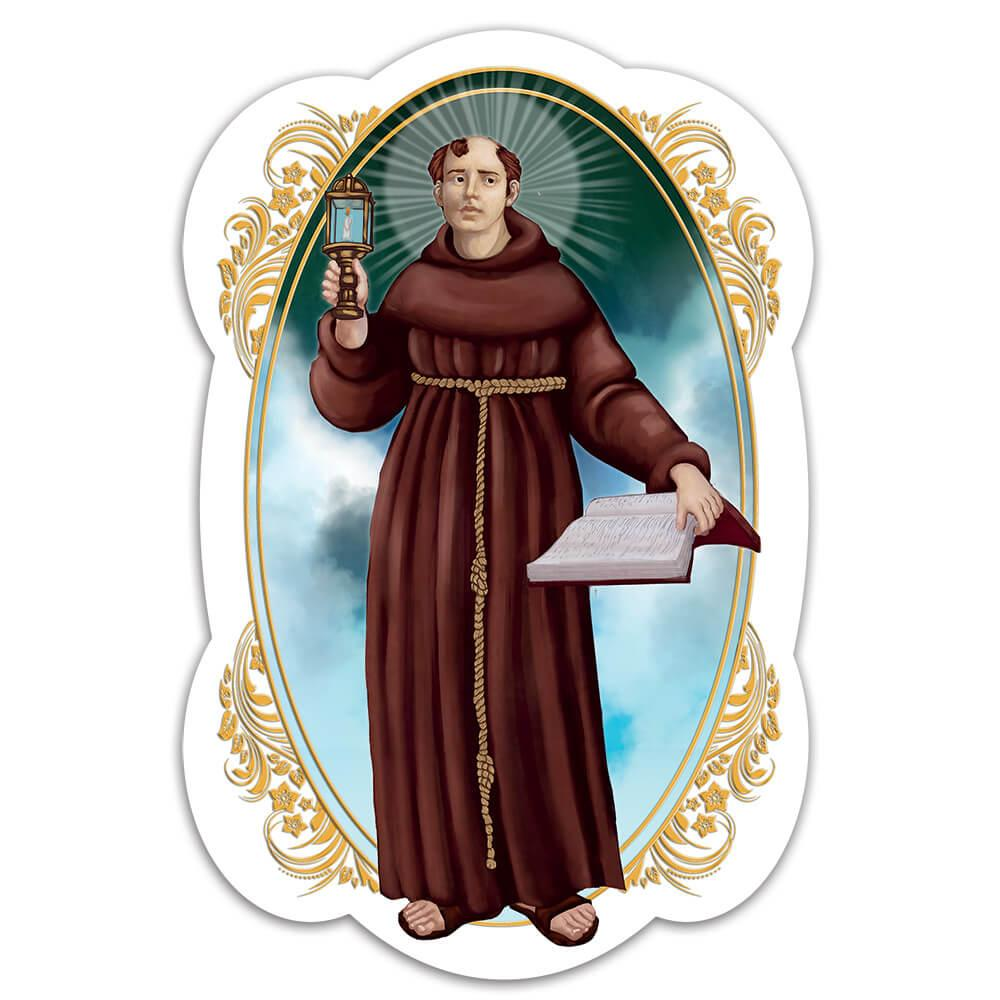 Saint James Of The Marches : Gift Sticker Catholic Monk Christian Candle Book Religious