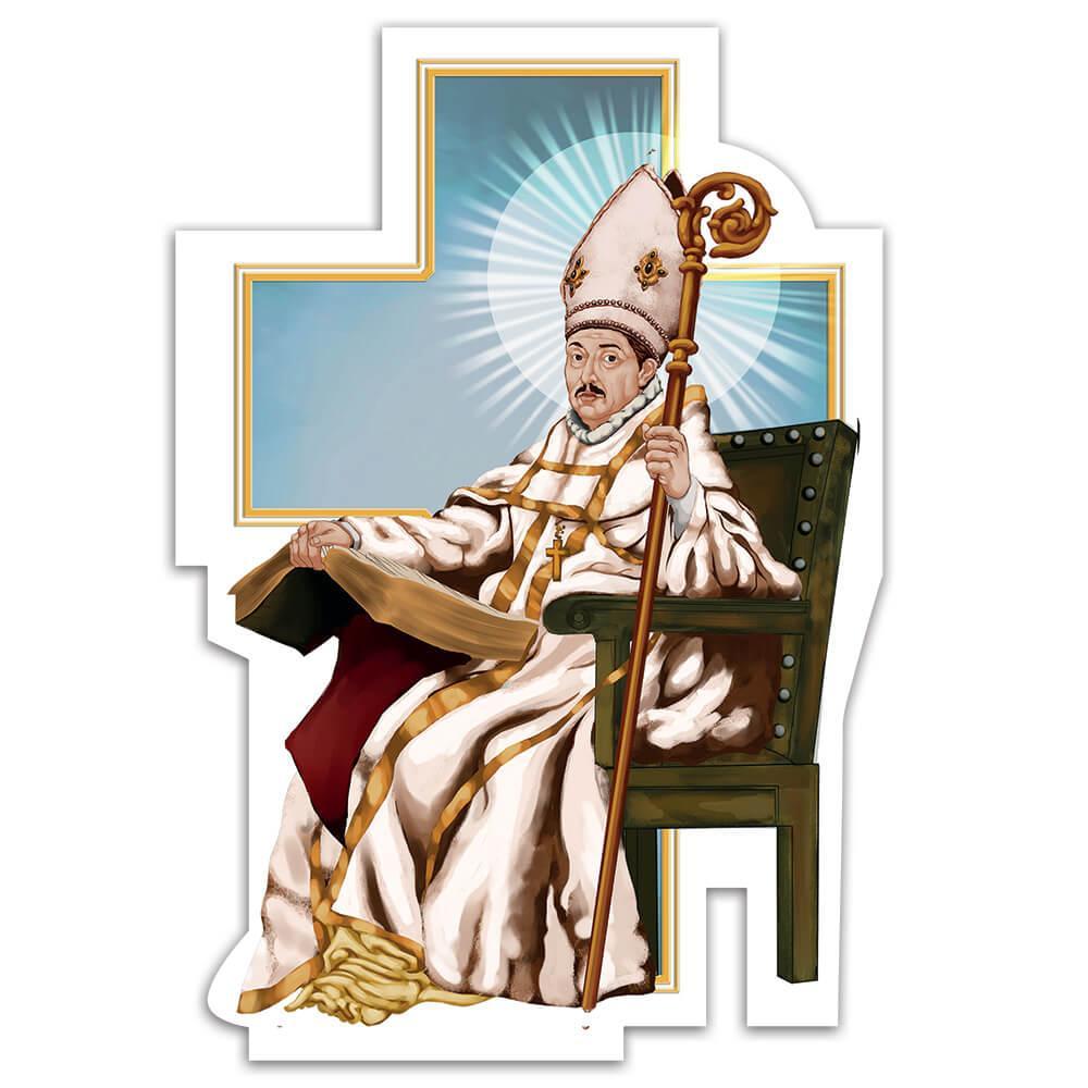 Saint Leander : Gift Sticker San Leandro Catholic Church Seville Episcopal Attire Christian
