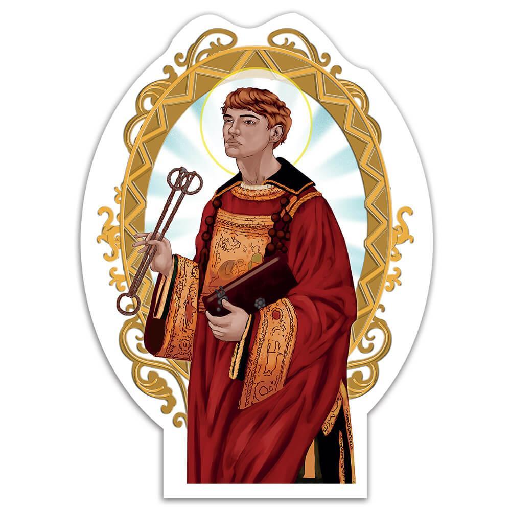Saint Leonard Of Noblac : Gift Sticker Catholic Church Chains Locks Christian Religious