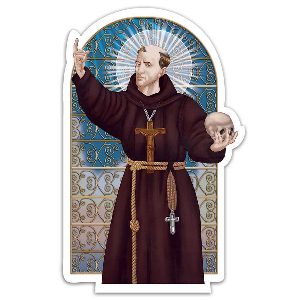 Saint Leonard Of Port Maurice : Gift Sticker Catholic Preacher Skull Christian Religion