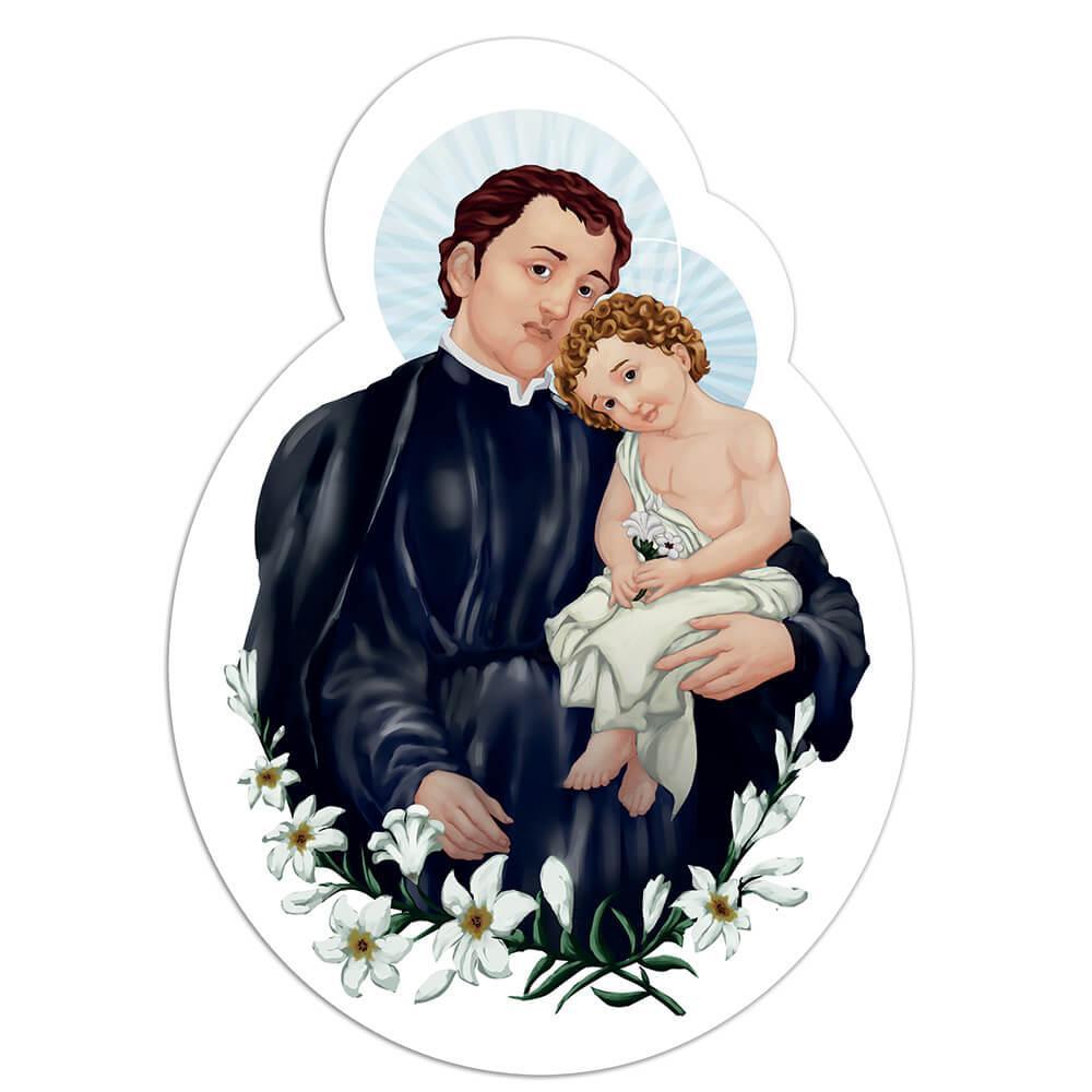 Saint Stanislaus Kostka : Gift Sticker Catholic Polish Baby Jesus Lily Christian Religious