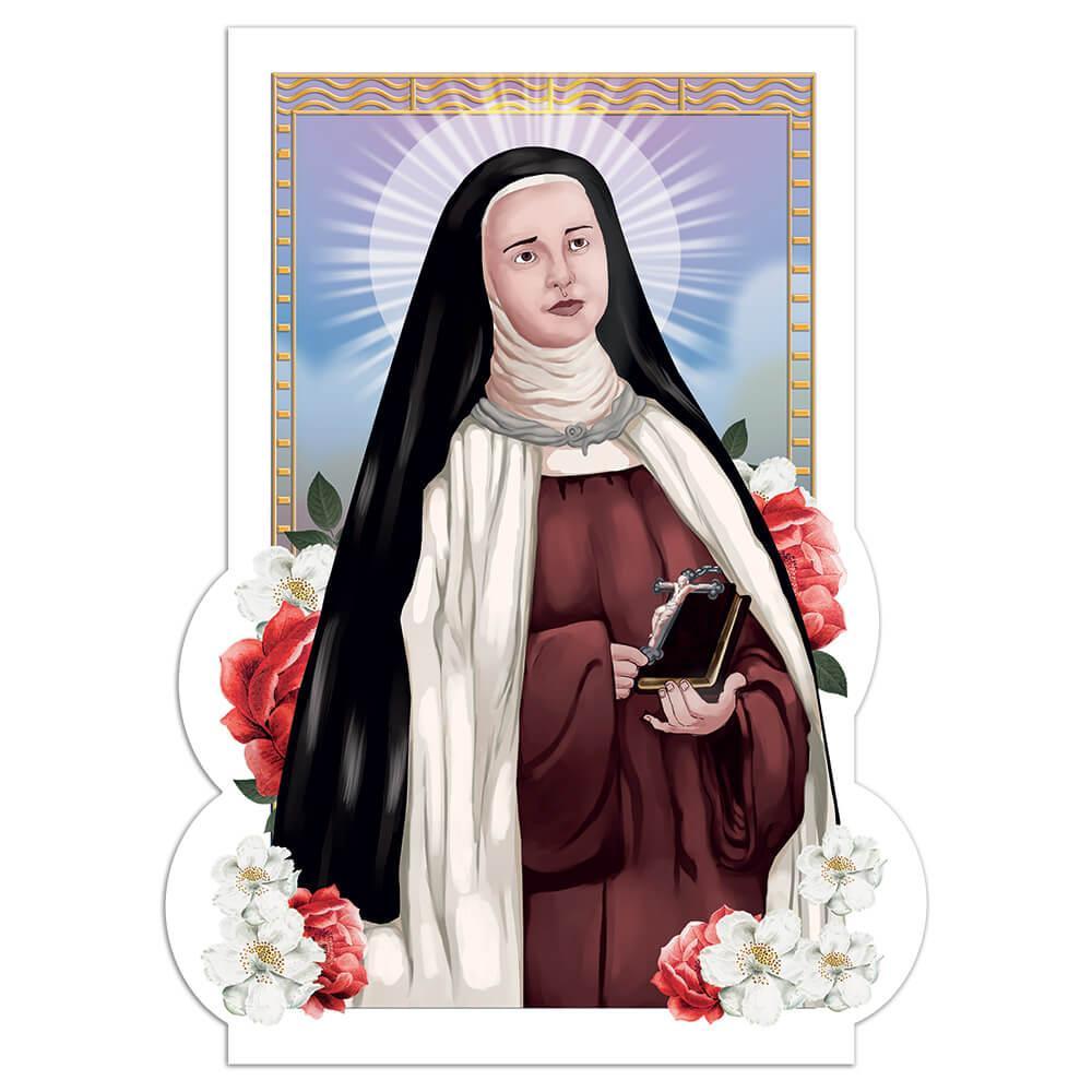 Saint Elizabeth Of The Trinity : Gift Sticker Catholic French Christian Bible Flowers Poster