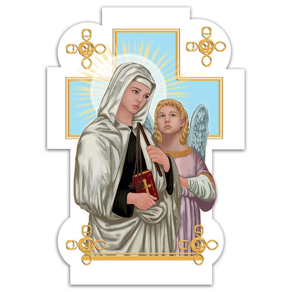 Saint Frances Of Rome : Gift Sticker Catholic Bible Archangel Christian Religious Faith