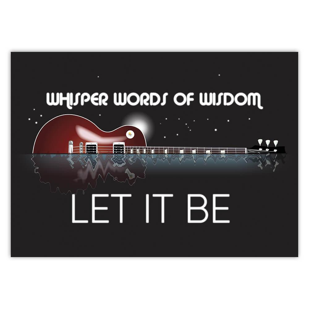 Whisper Words Os Wisdom Let It Be Wall Art : Gift Sticker Music Guitar Room Decor Song