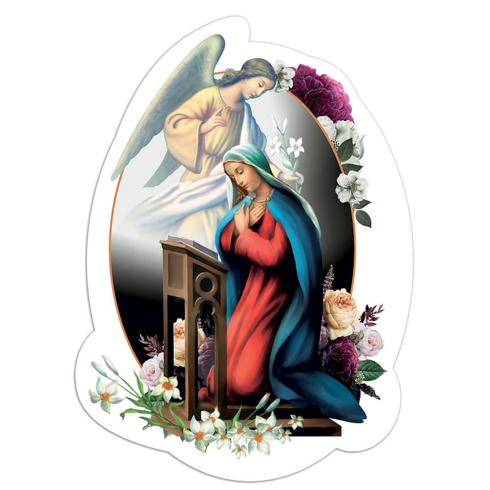 Annunciation Of Our Lady Angel : Gift Sticker Catholic Virgin Mary Church Religious