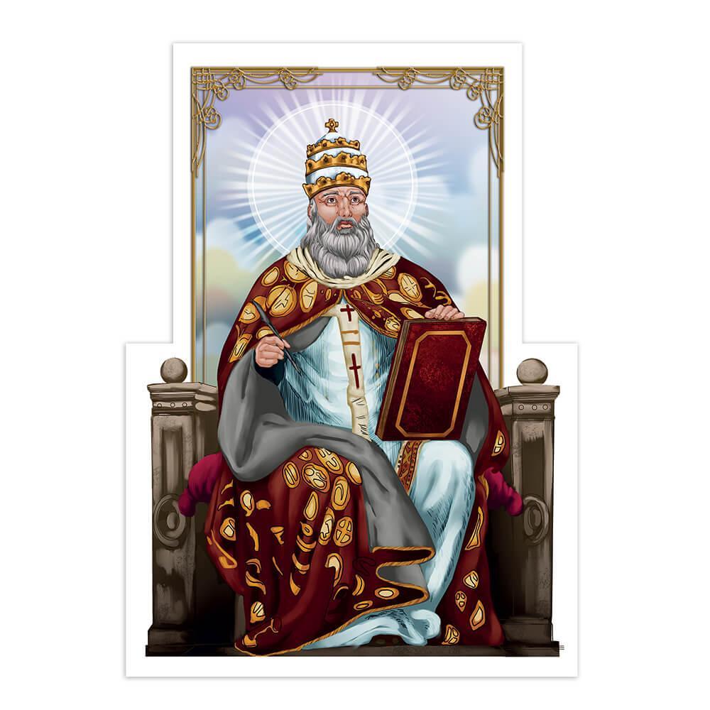 Saint Damasus I : Gift Sticker Catholic Bishop Pope Church Christian Religious Bible