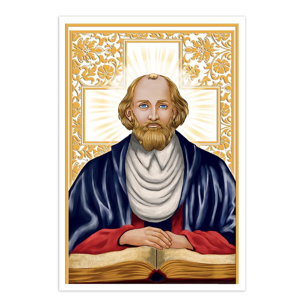 Saint John Of Kanty : Gift Sticker Catholic Christian Polish Priest Golden Cross Bible