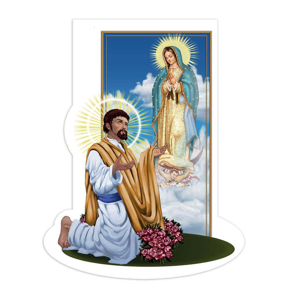 Saint Juan Diego : Gift Sticker Catholic Mexican Guadalupe Religious Christian Virgin Mary