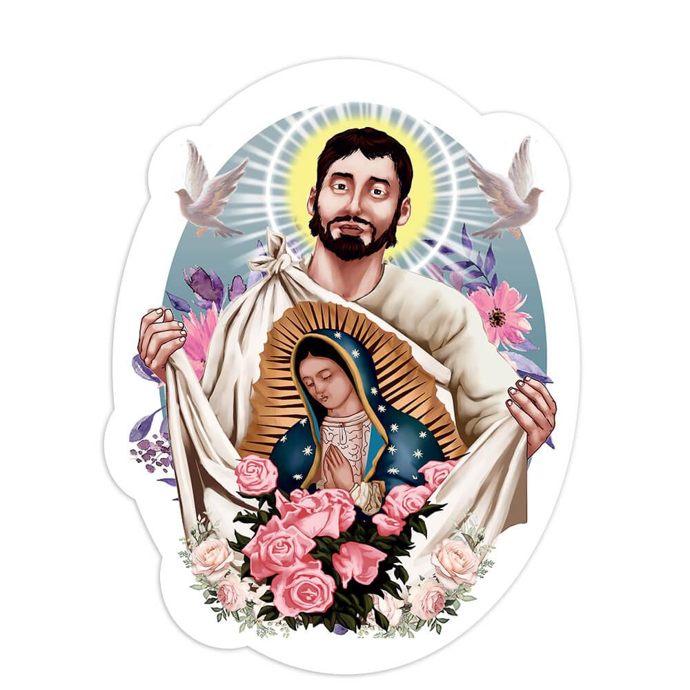 Saint Juan Diego Virgin Mary : Gift Sticker Catholic Guadalupe Religious Christian Roses