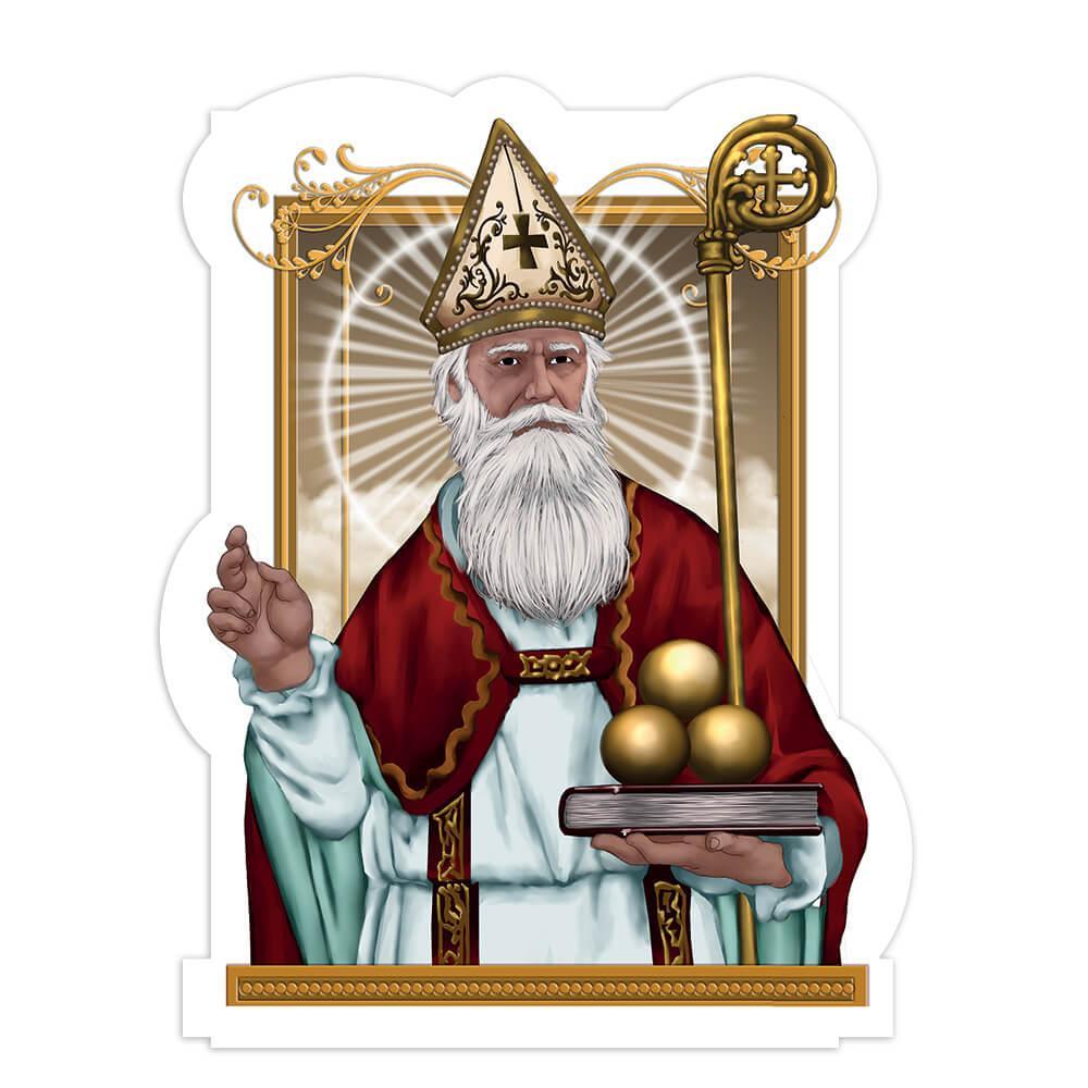 Saint Nicholas Three Oranges : Gift Sticker Catholic Church Christian Religious Book