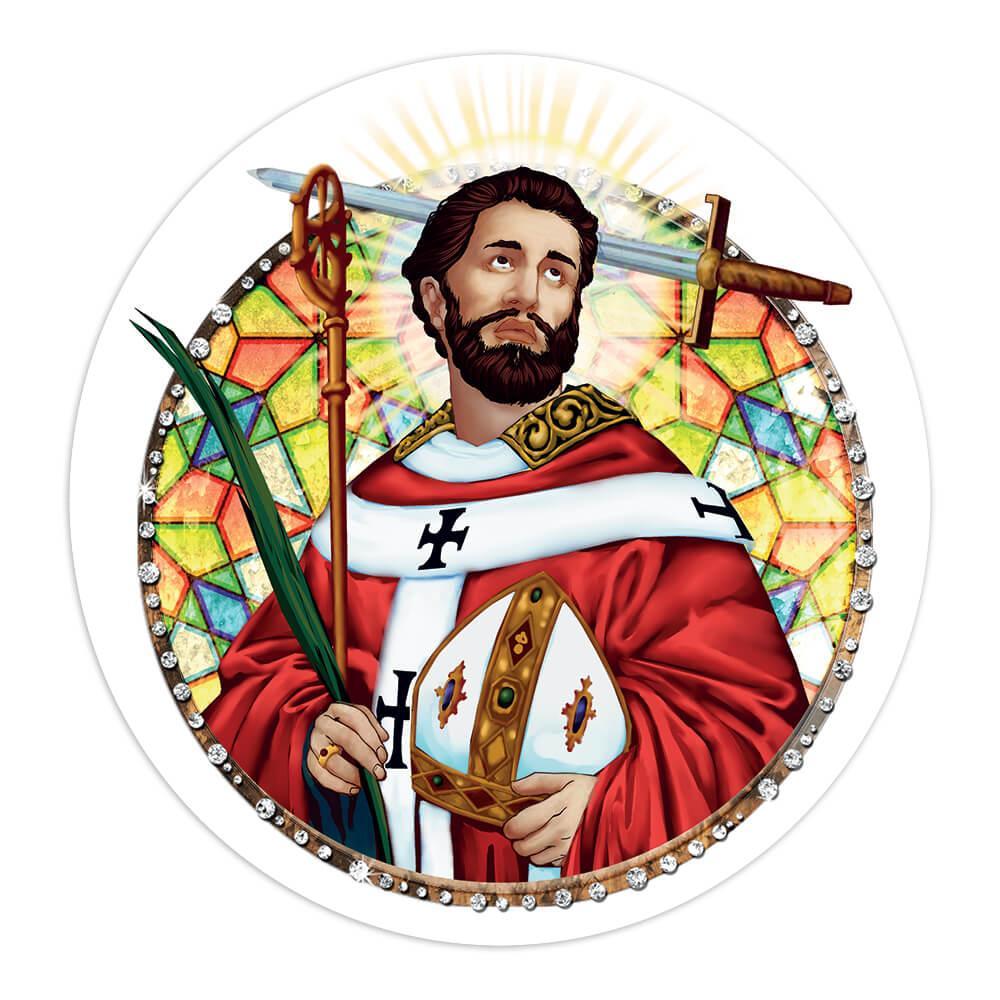 Saint Thomas Becket : Gift Sticker Catholic Anglican Church Palm Sword Religious