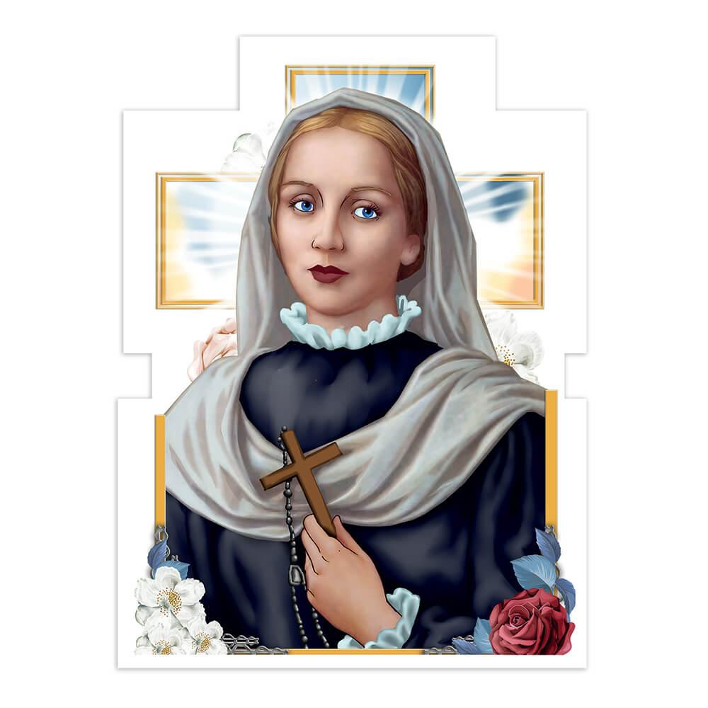 Saint Virginia Centurione Bracelli : Gift Sticker Catholic Church Cross Flowers Religious