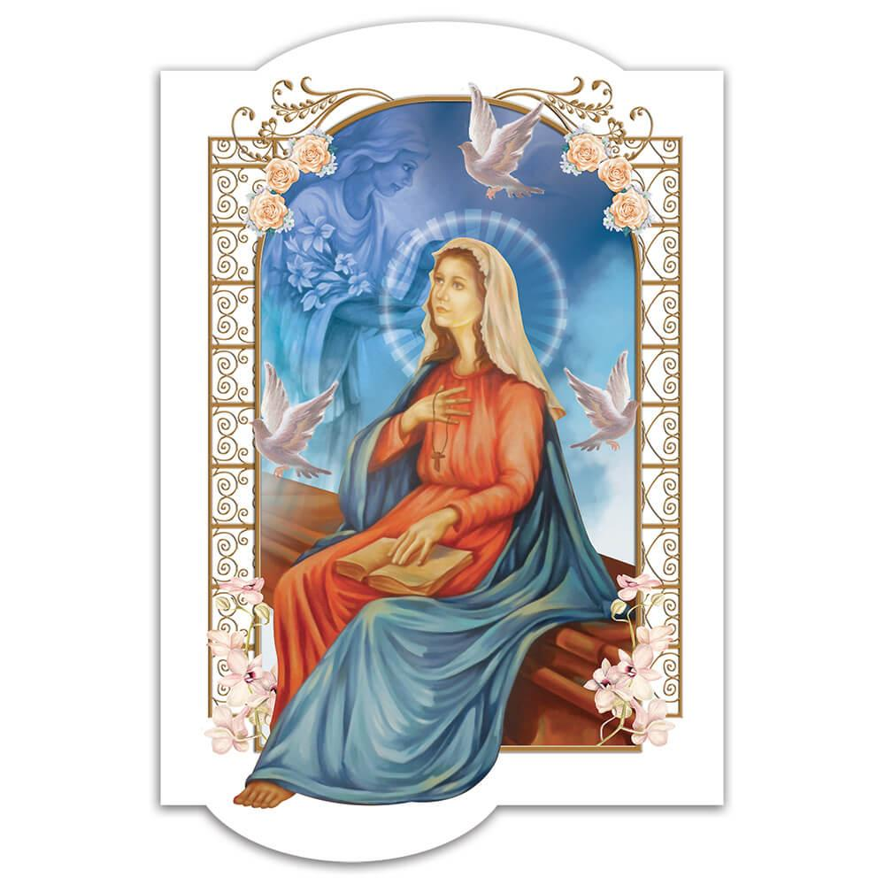 Annunciation Of Our Lady : Gift Sticker Virgin Mary Catholic Christian Church Religious