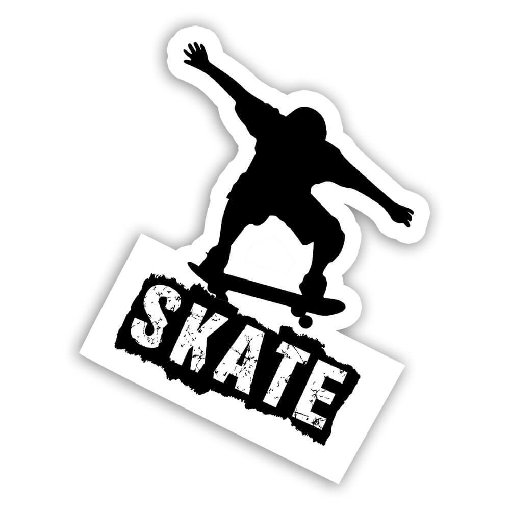 Skater Silhouette Skate : Gift Sticker Skating Skateboarding Action Sport For Teenager