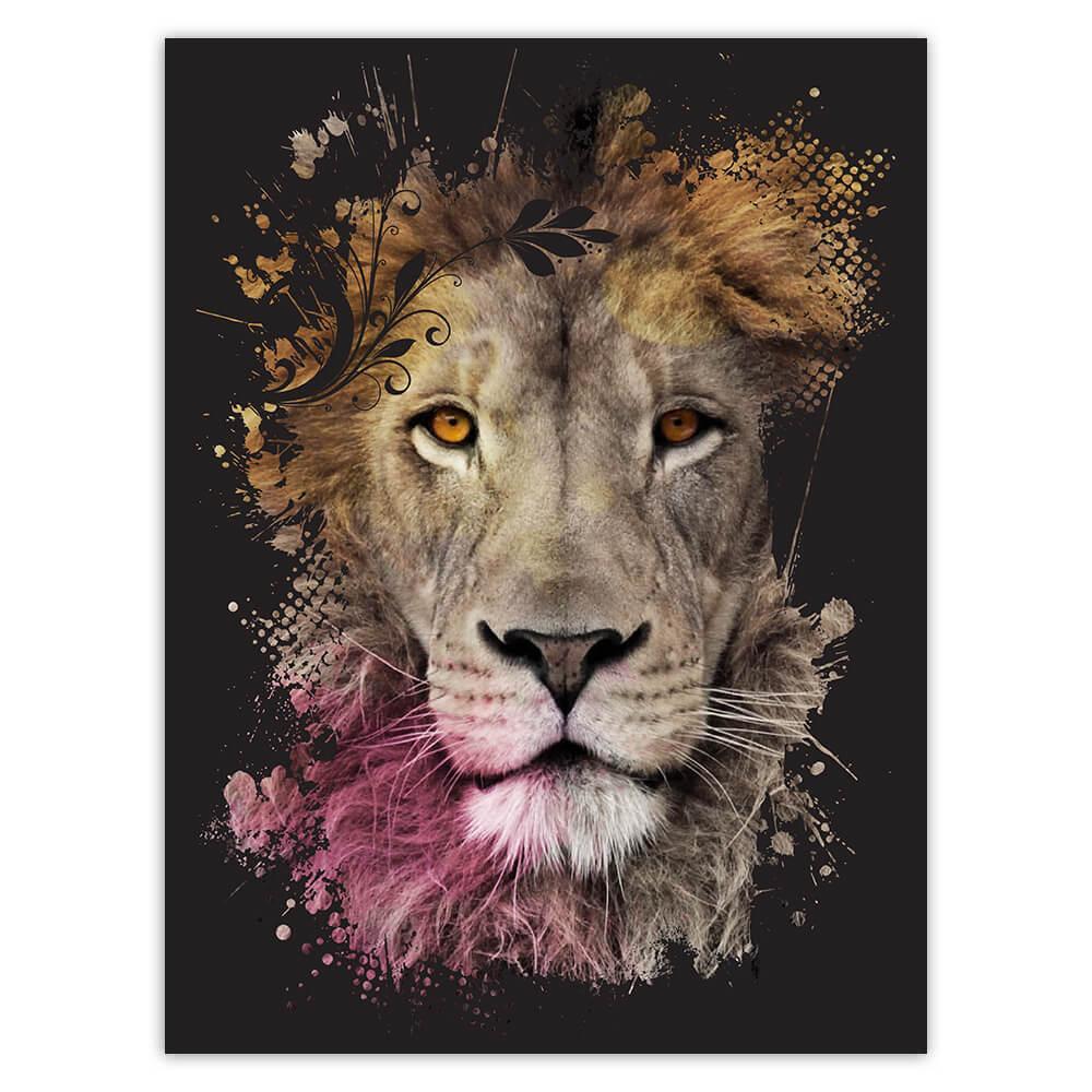 Lion Photography Portrait : Gift Sticker Wild Feline Cat Animal King Safari Africa Cute