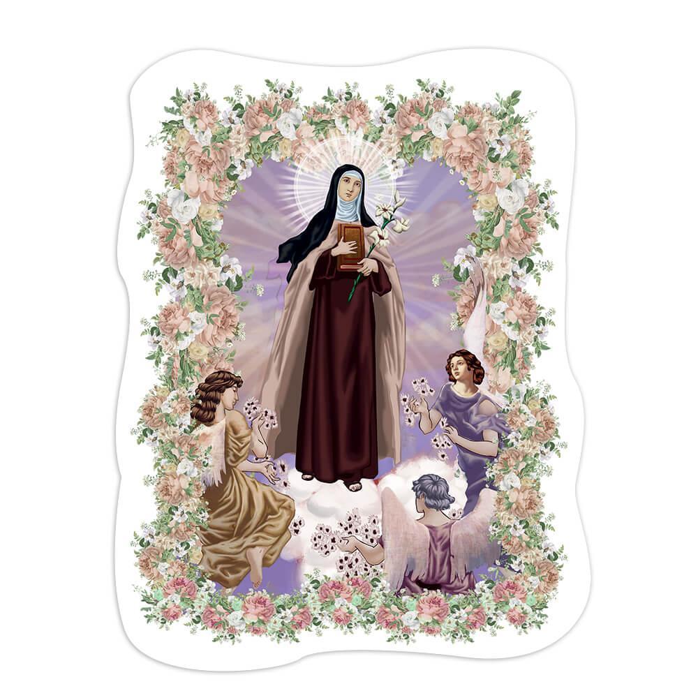 Saint Teresa Margaret Redi : Gift Sticker Catholic Church Angels Flower Frame Home Decor