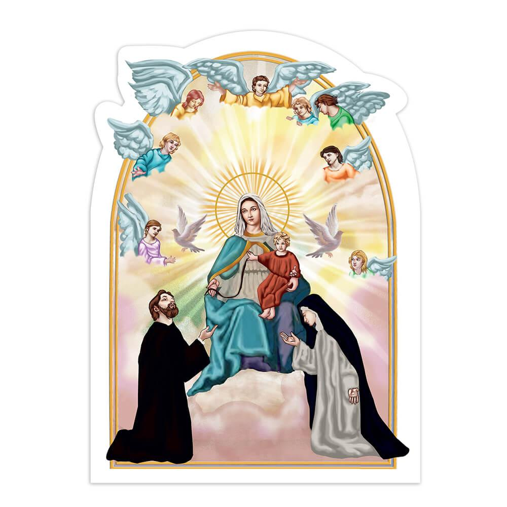 Our Lady Of Consolation : Gift Sticker Virgin Mary Mother Catholic Jesus Angels Sai
