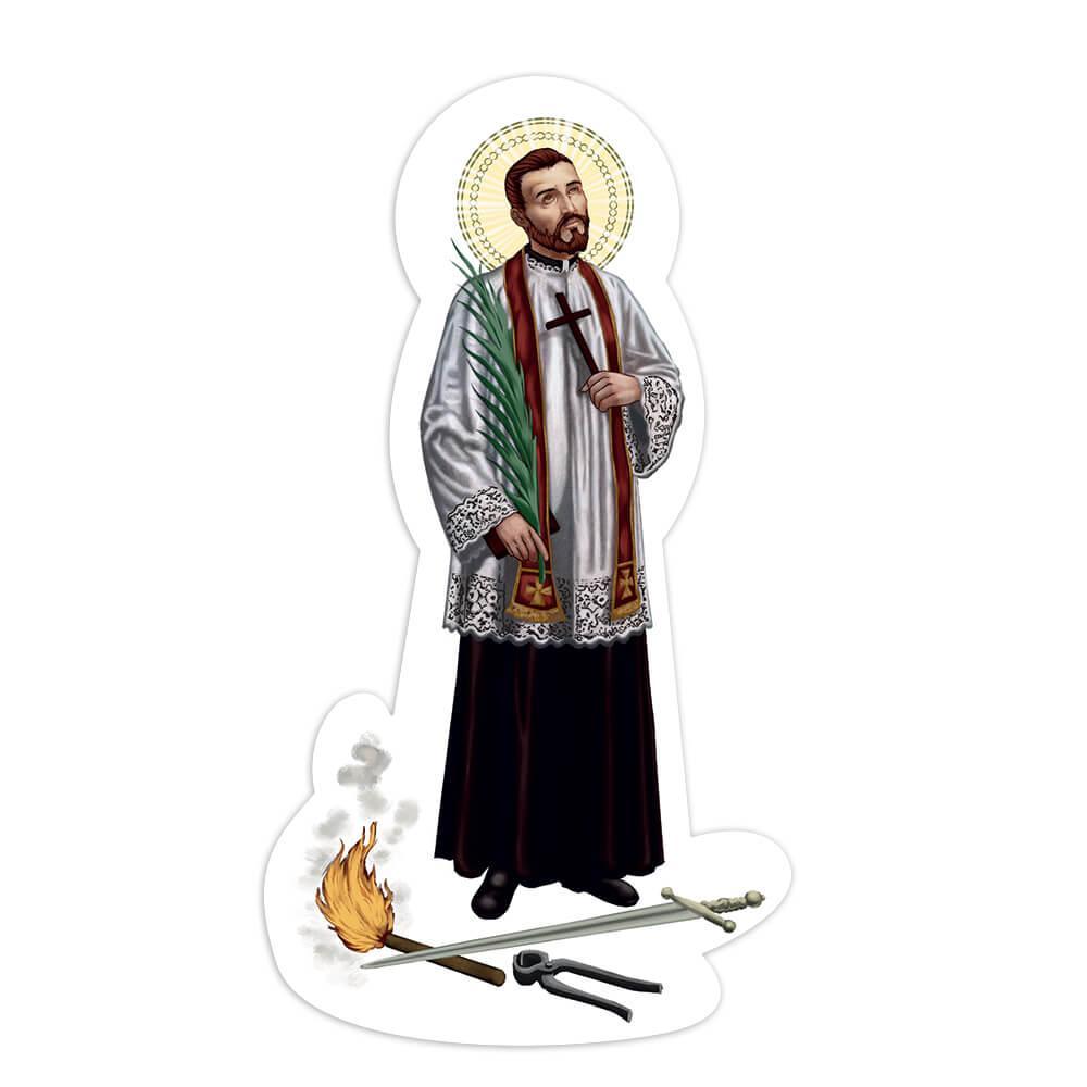 Saint Melchior Grodziecki : Gift Sticker Catholic Church Polish Priest Sword Religious