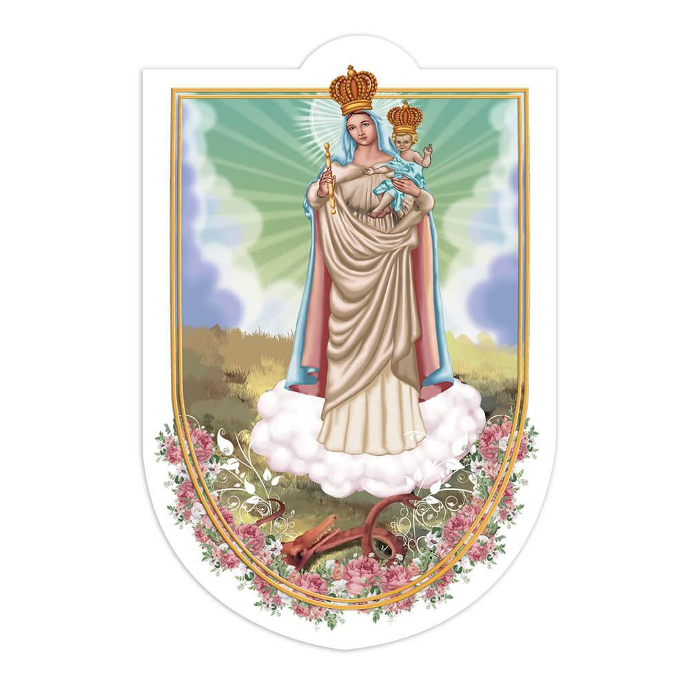 Our Lady Of The Rock : Gift Sticker Catholic Saint Nossa Senhora Da Penha Virgin Jesus