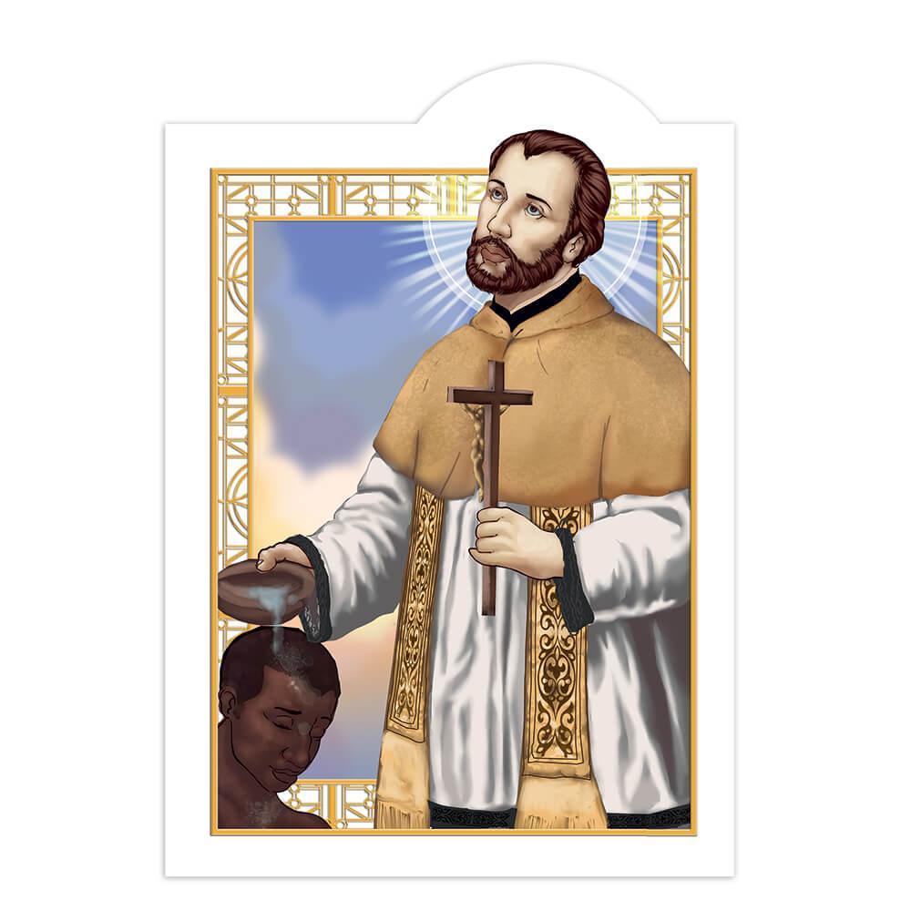 Saint Peter Claver : Gift Sticker Spanish Priest Catholic Roman Church Christian Baptism