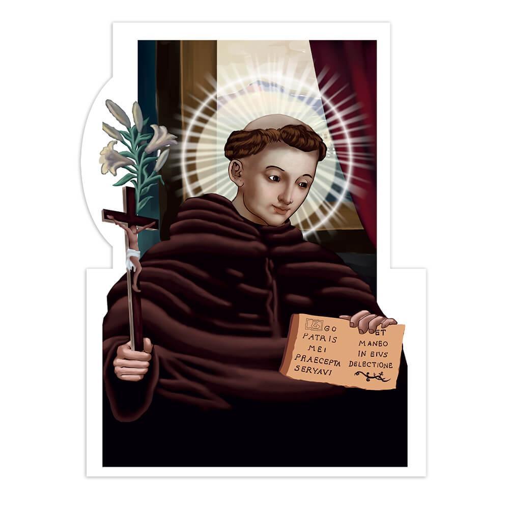 Saint Nicholas Of Tolentino : Gift Sticker Catholic Church Flower Christian Italian