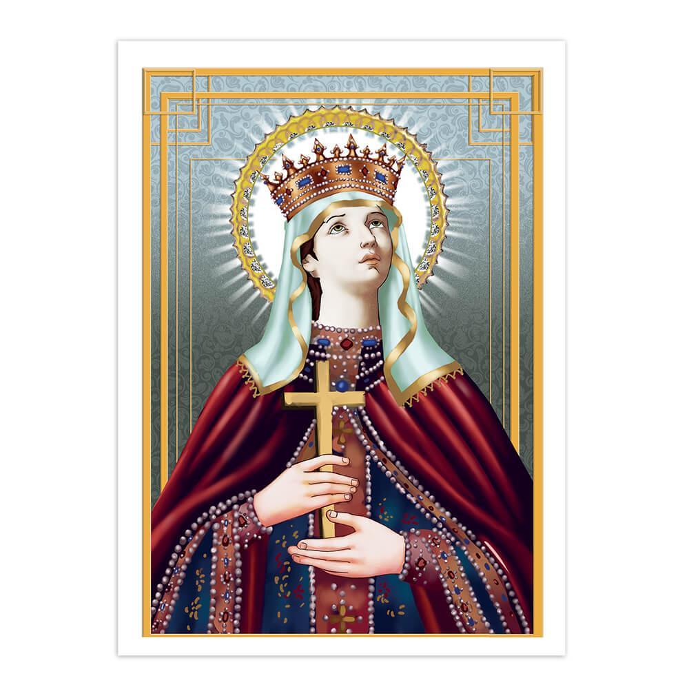 Saint Ludmila : Gift Sticker Catholic Czech Holy Christian Martyr Cross Crown Religious