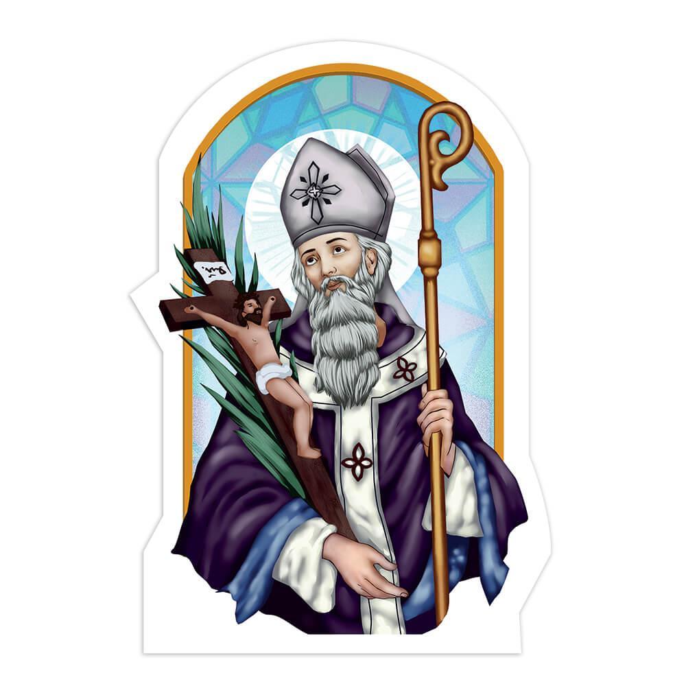 Saint Cornelius : Gift Sticker Catholic Pope Christian Church Crucifix Jesus Religious