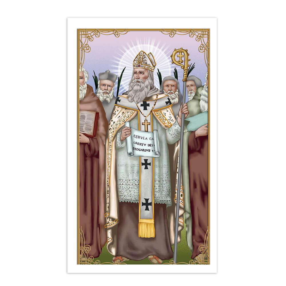 Saint Albert Of Jerusalem : Gift Sticker Catholic Saints Church Lawyer Religious Christian