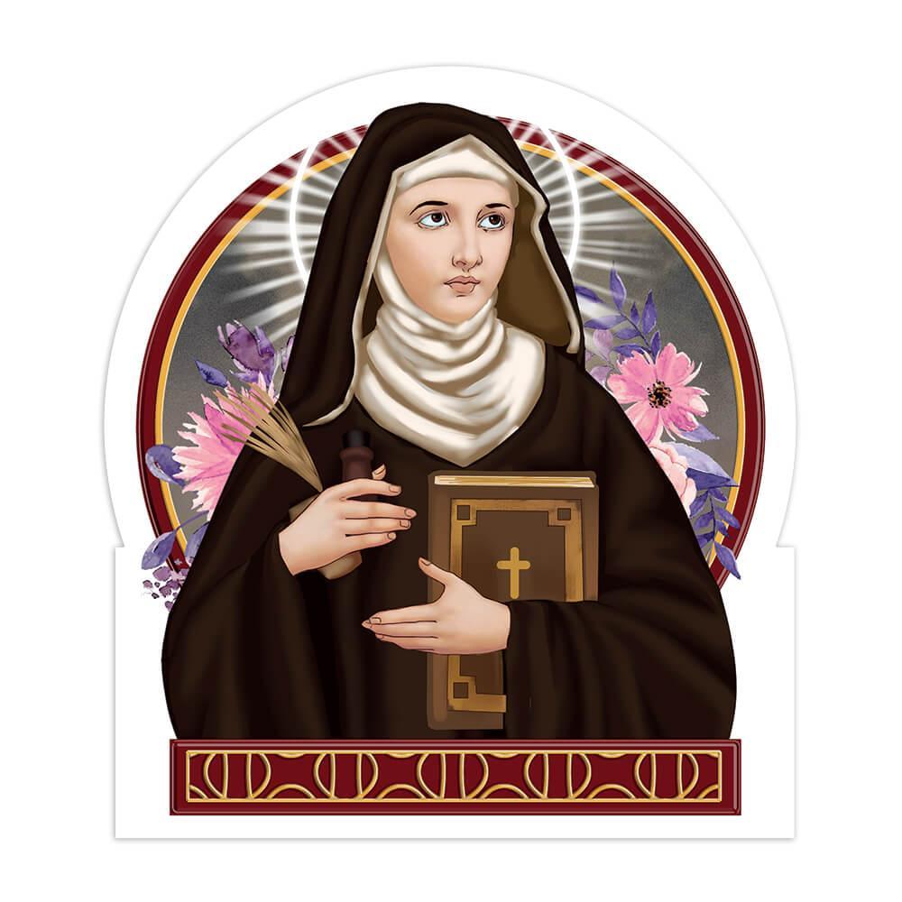 Saint Hildegard Of Bingen : Gift Sticker Catholic Church Roman Musician Patron Religious