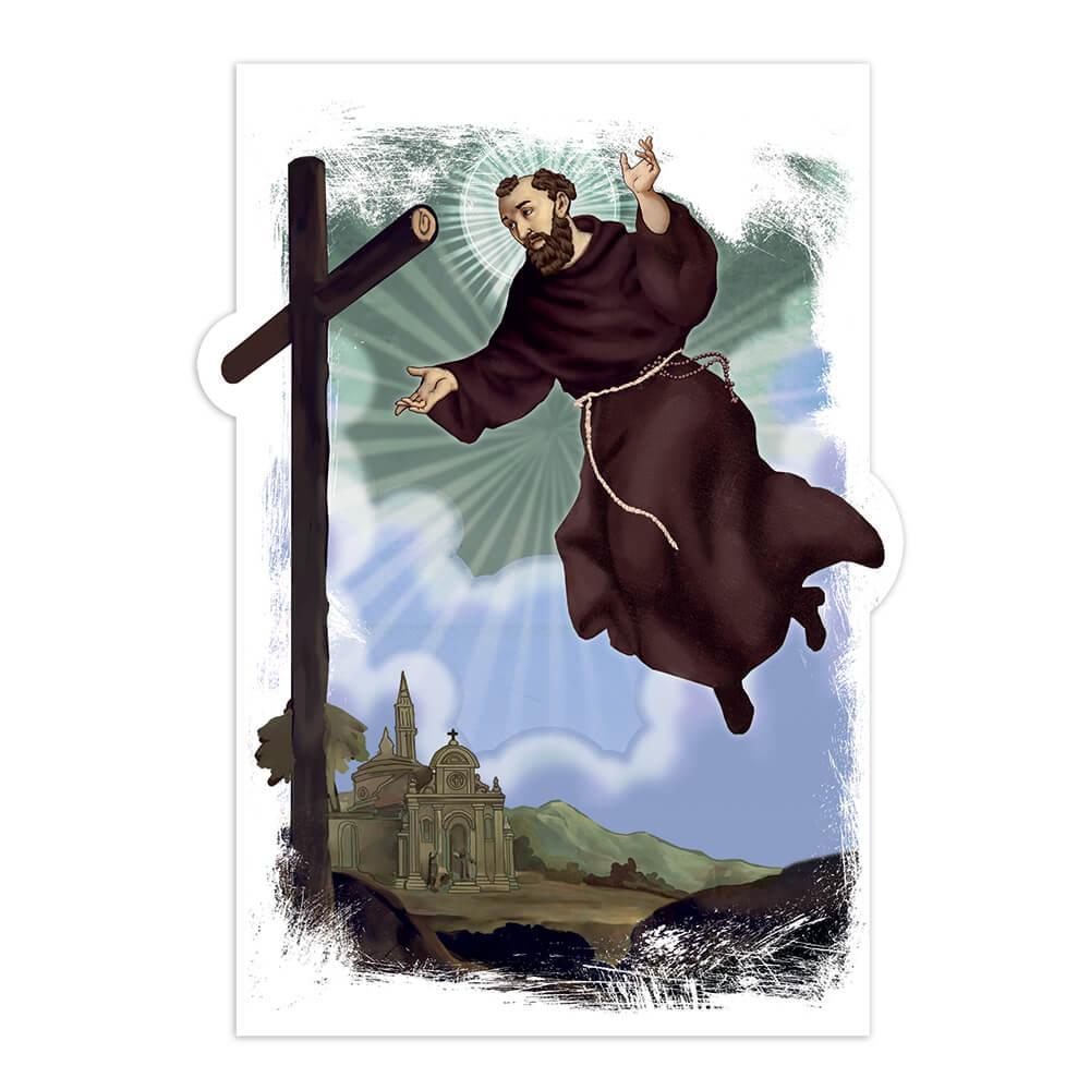 Saint Joseph Of Cupertino : Gift Sticker Catholic Cross Miracle Christian Religious