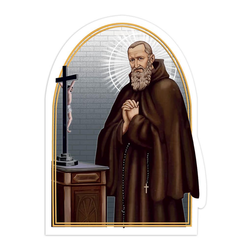 Saint Francis Mary Of Camporosso : Gift Sticker Catholic Roman Church Christian Cross