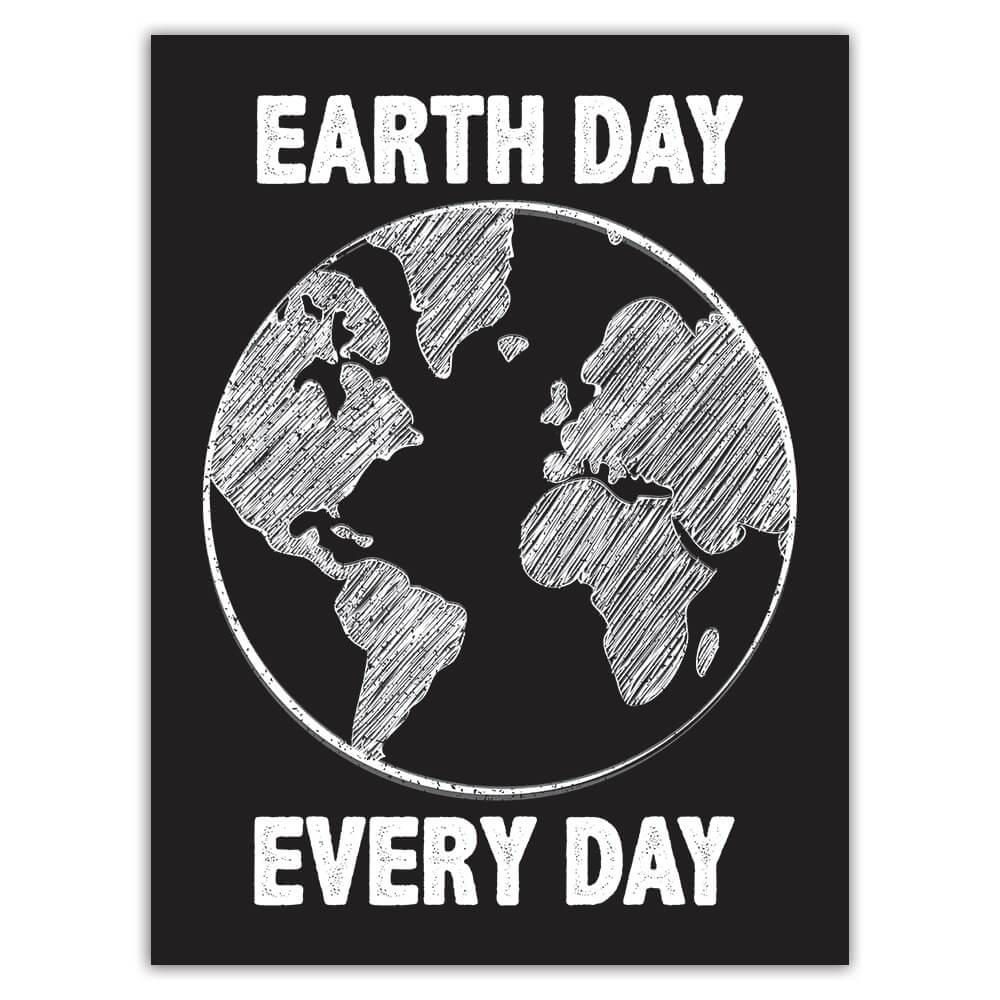 Earth Day Every Sign : Gift Sticker Environment Protection Ecological Non Polluting