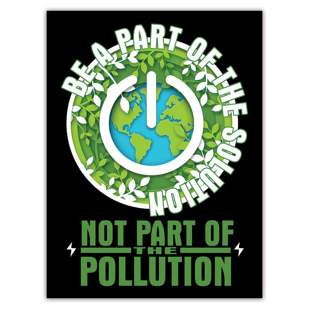 Green Power Plant Trees : Gift Sticker Environment Protection Ecology Friendly Organic