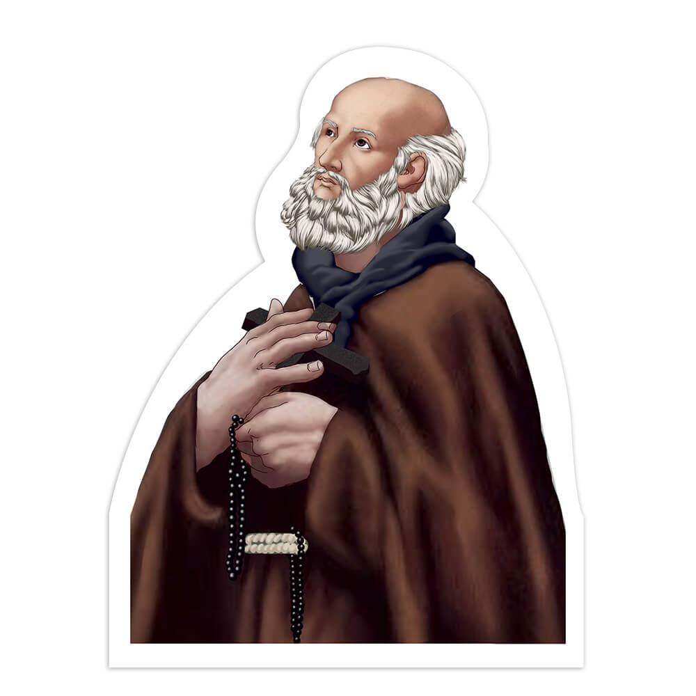 Saint Ignatius Of Santhia : Gift Sticker Christian Catholic Church Cross Holy Arabesque