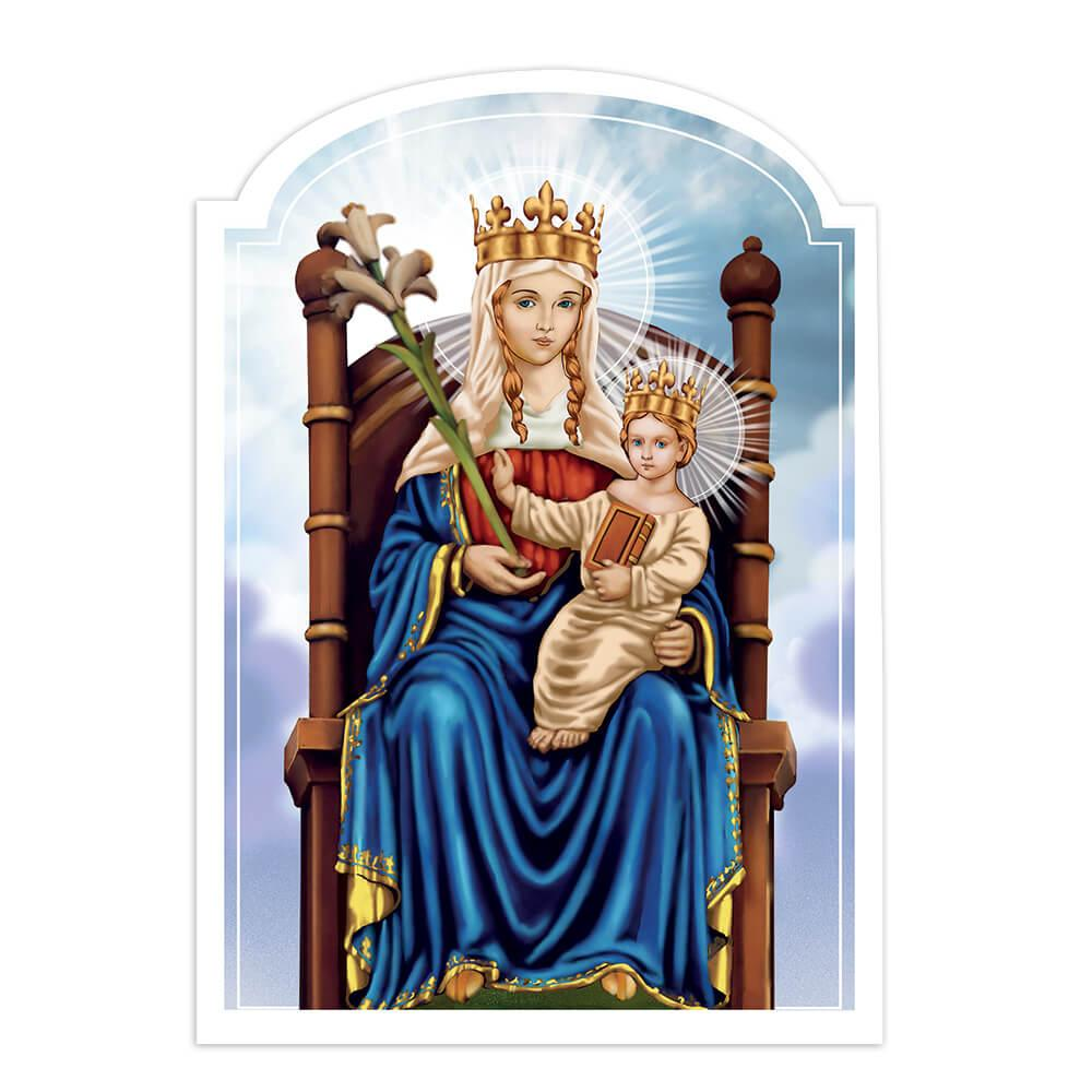 Our Lady Of Walsingham : Gift Sticker Catholic Baby Jesus Madonna Christian Holy Family