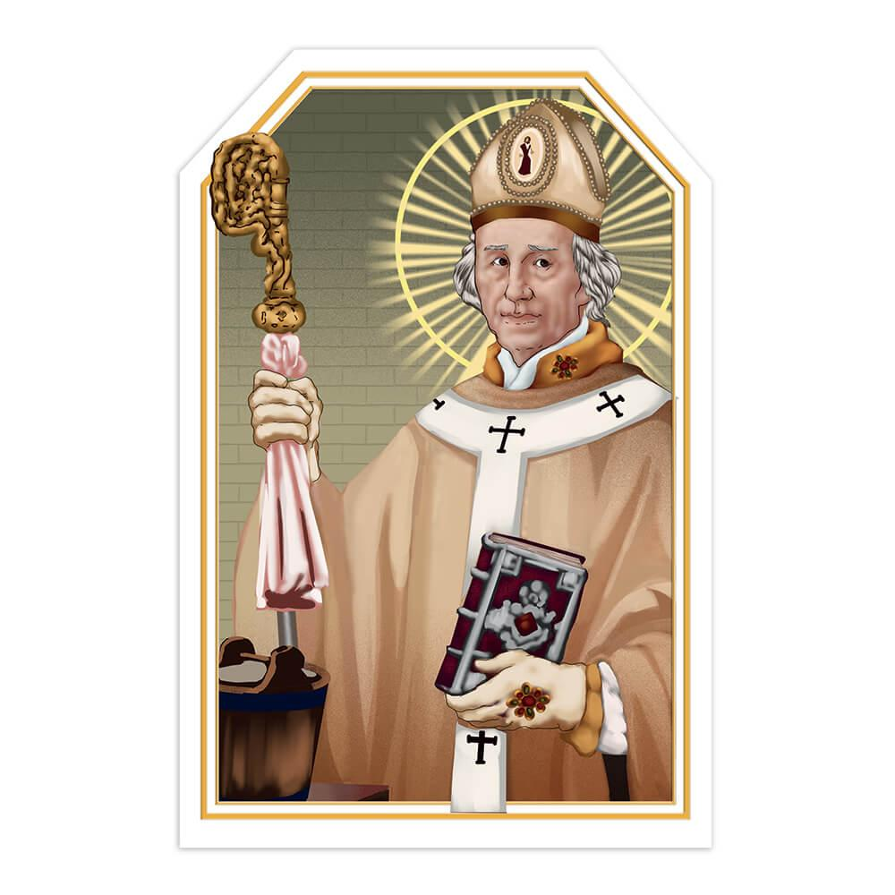 Saint Rupert : Gift Sticker Catholic Salzburg Holy Christian Religious Church Bible
